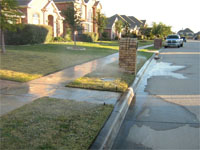 Water Violation - Runoff on Sidewalk and Street